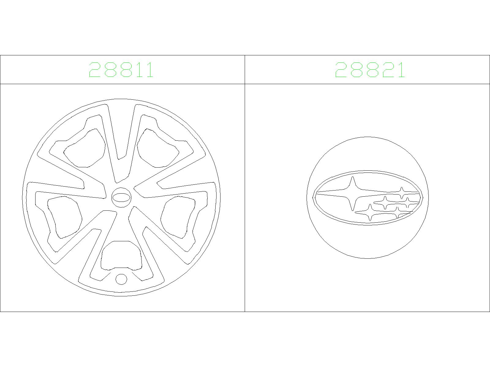 Subaru Forester Center cap assembly-aluminium wheel