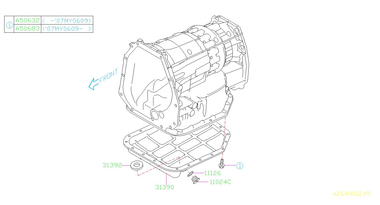 Subaru Tribeca Gasket-drain plug. Transmission, case, pan