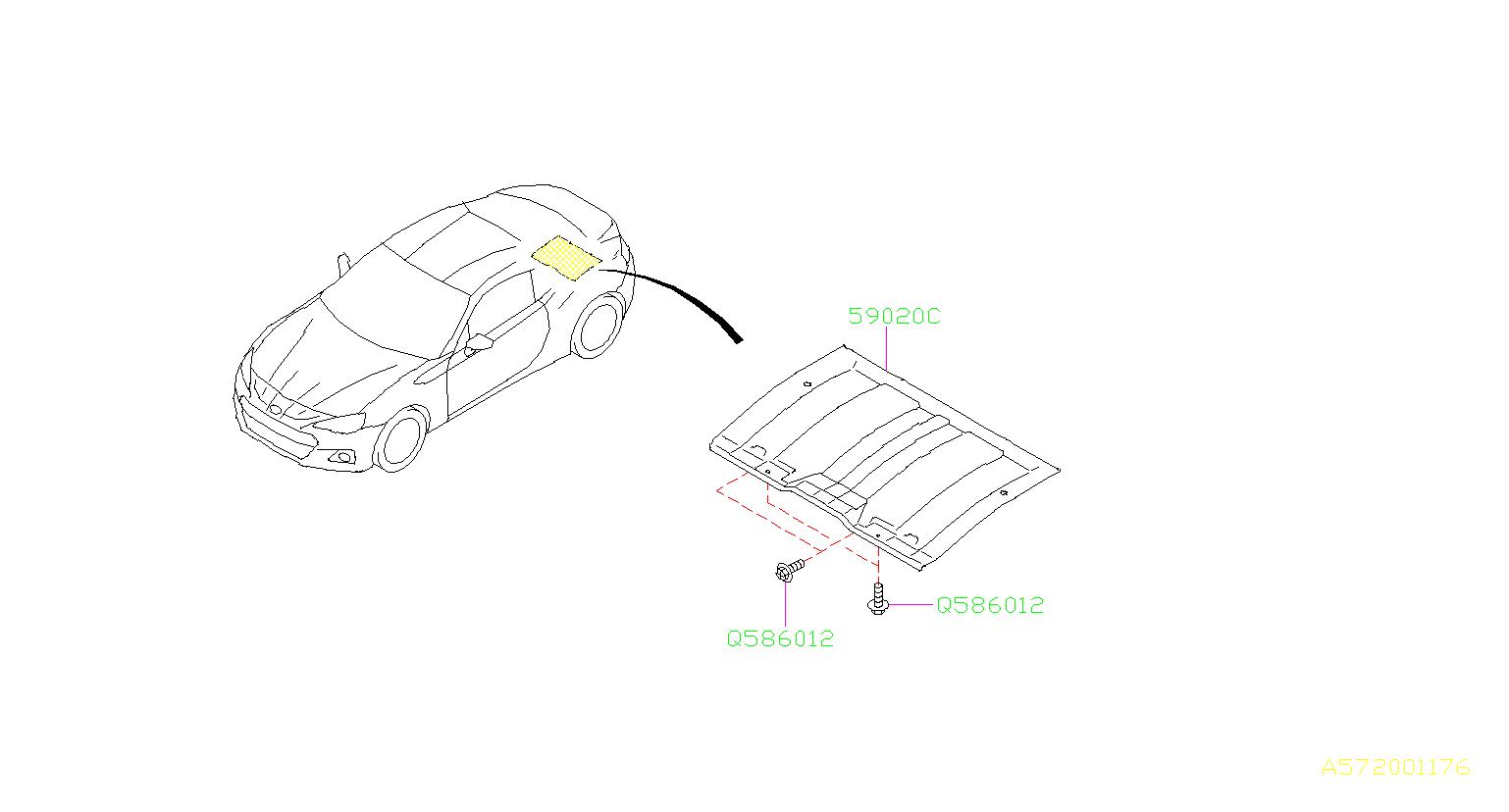 Subaru Brz Cover Complete Exhaust Rear Under Muffler