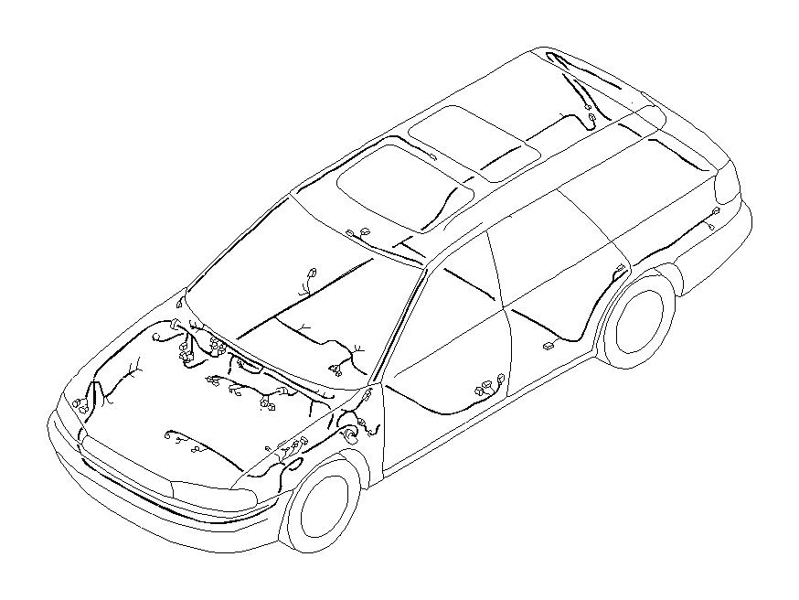 Subaru Legacy Harness-bulkhead. U0u1. Main, wiring