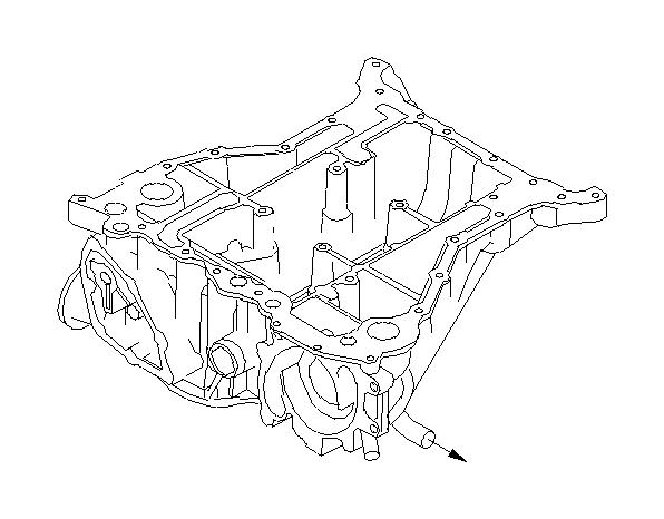 Subaru Legacy Oil pan complete-upper. Engine, cooling