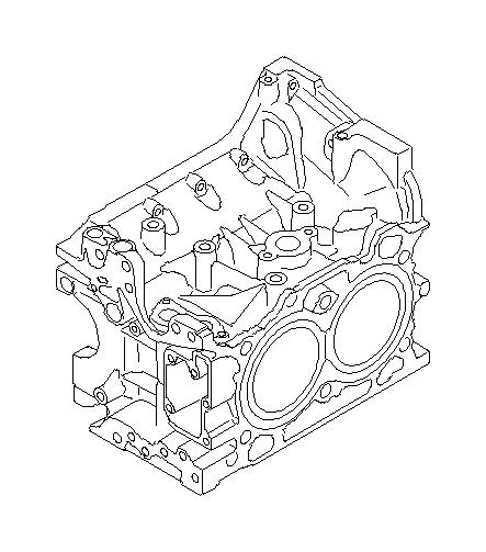 Subaru Legacy Block set-cylinder. Body, engine, dot