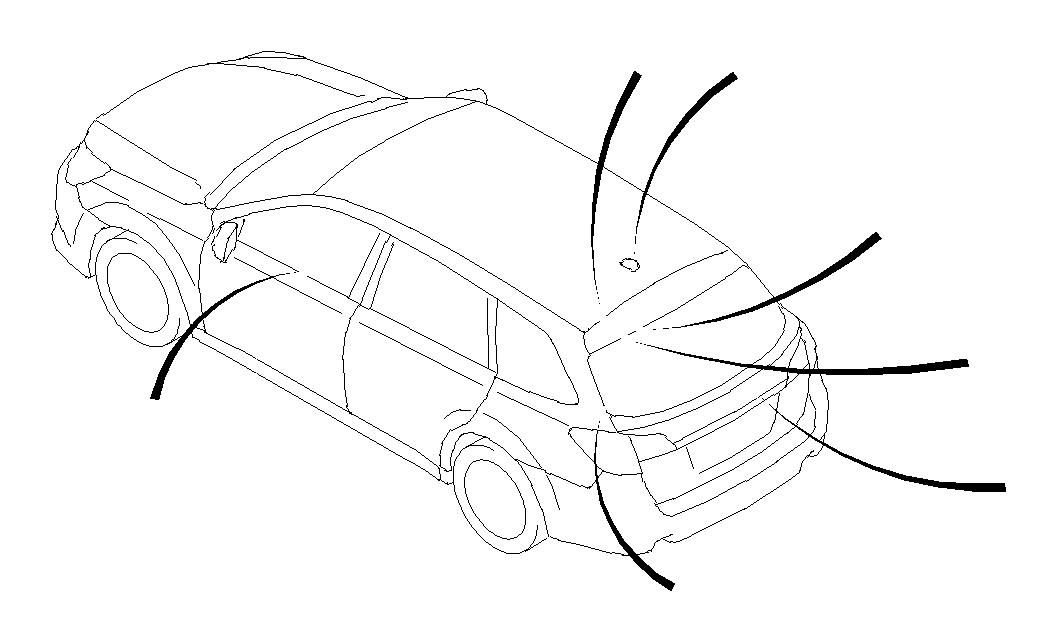 Subaru Outback Cord assembly-antenna feeder b. Harada