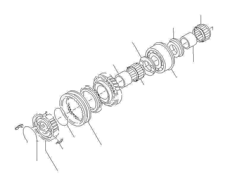 Subaru Legacy Sleeve & hub assembly. Main, shaft