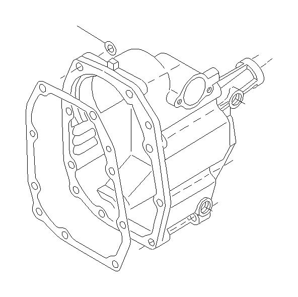 Subaru Impreza Gasket-rear case, manual transmission. Seal