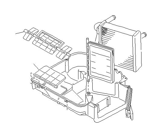 Subaru Impreza Door assembly-defroster. Unit, heating