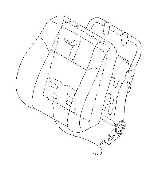 Subaru Impreza Pad assembly-front seat back rest, right