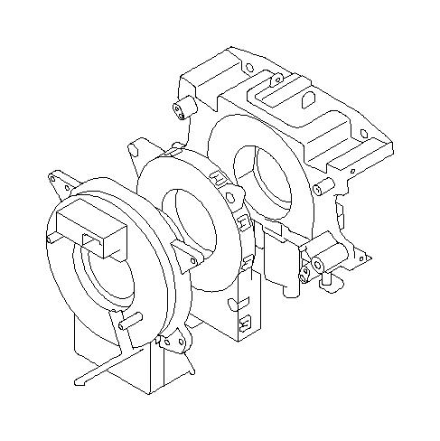 Subaru Impreza Steering roll connector. Combination