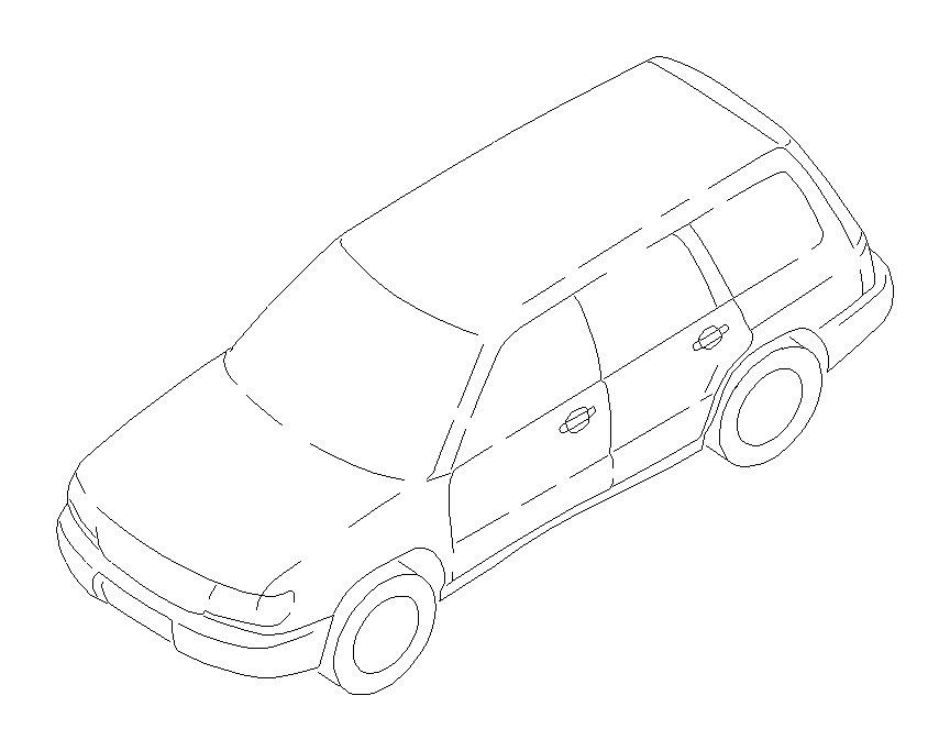 Subaru Forester Harness-rear. Main, wiring, opc