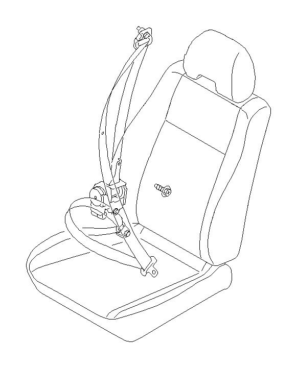 Subaru Impreza Stopper-tang. Seat, interior, front, belt