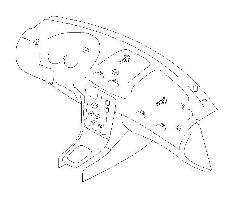 Subaru Forester Harness-instrument panel. Wiring