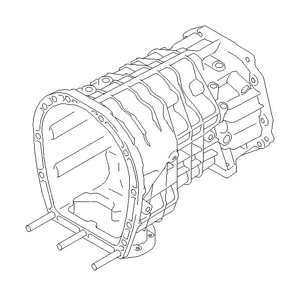 Subaru STI Case Complete Transmission. OILPAN, Manual