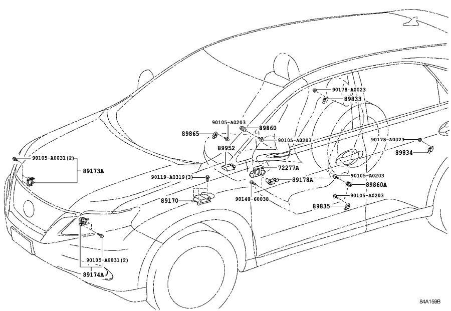 2007 Lexus Air Bag Impact Sensor (Left, Right, Rear). AIR