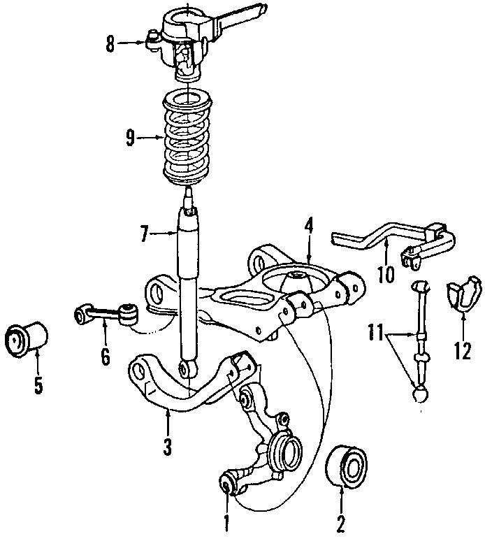1996 Ford Thunderbird Suspension Control Arm. Upper arm