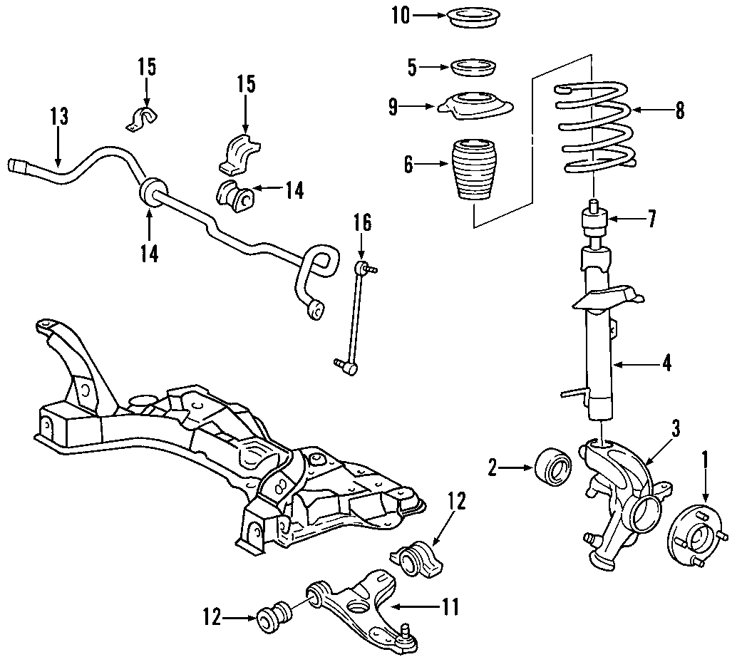 Ford Focus Steering Knuckle (Front). Suspension, Left, ABS