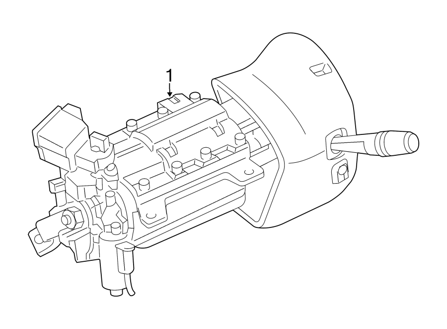 Ford Crown Victoria Steering Column. All Models; Column