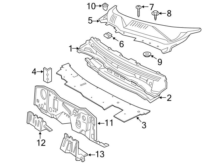 Ford Taurus Cowl Parts Diagram. Ford. Auto Wiring Diagram