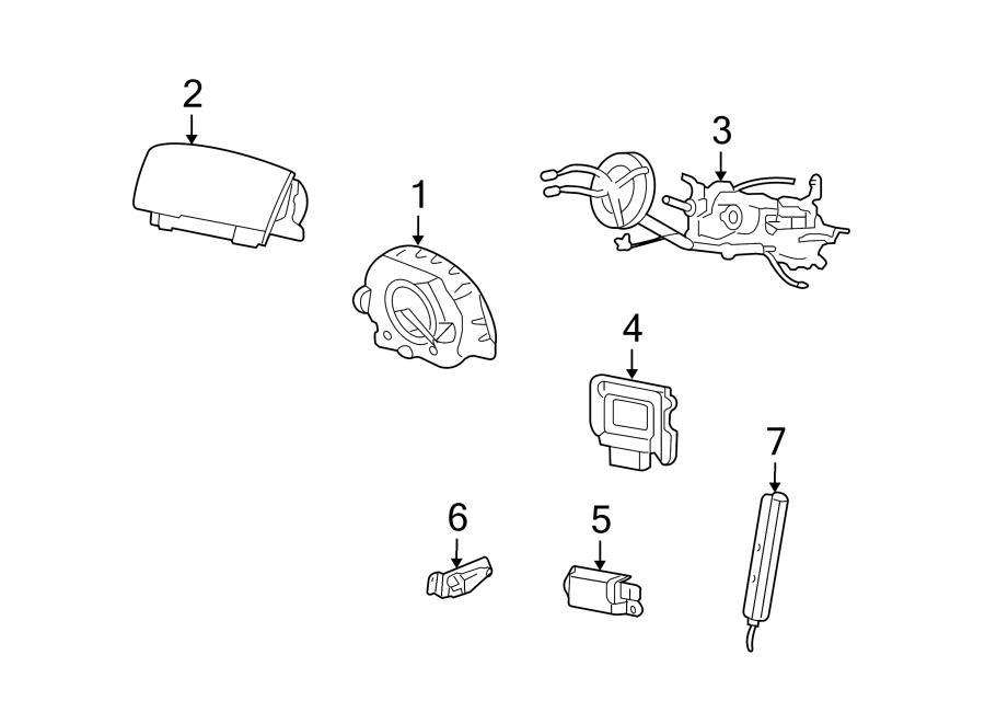 Ford Crown Victoria Air Bag Clockspring. SYSTEMS