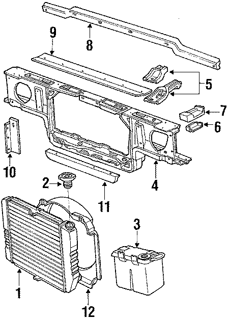 Ford Thunderbird Insulator. Radiator. Lower. CAP. Mount