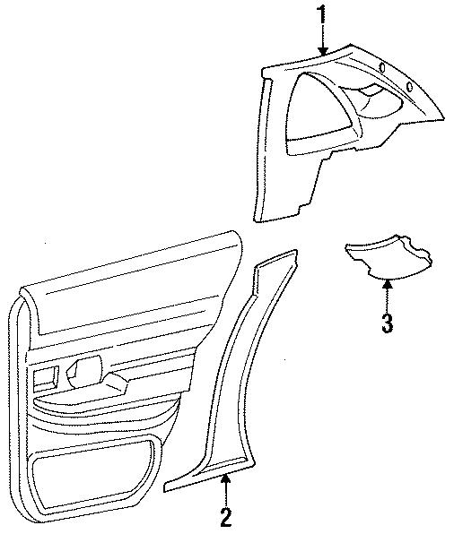 Ford Crown Victoria Upper QUARTER trim. PANEL, Left