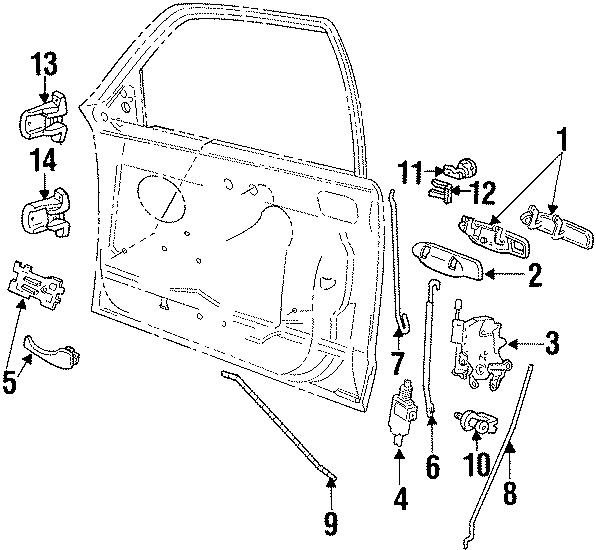 Ford Crown Victoria Door Hinge (Upper). Upper