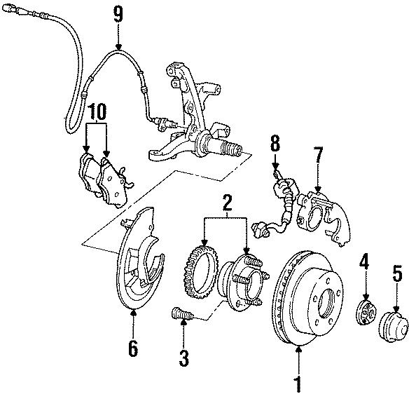2001 Ford Crown Victoria Brake Hydraulic Hose. Right