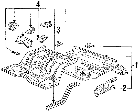 Ford Crown Victoria Floor Pan (Rear). NGV, BODY, Gas