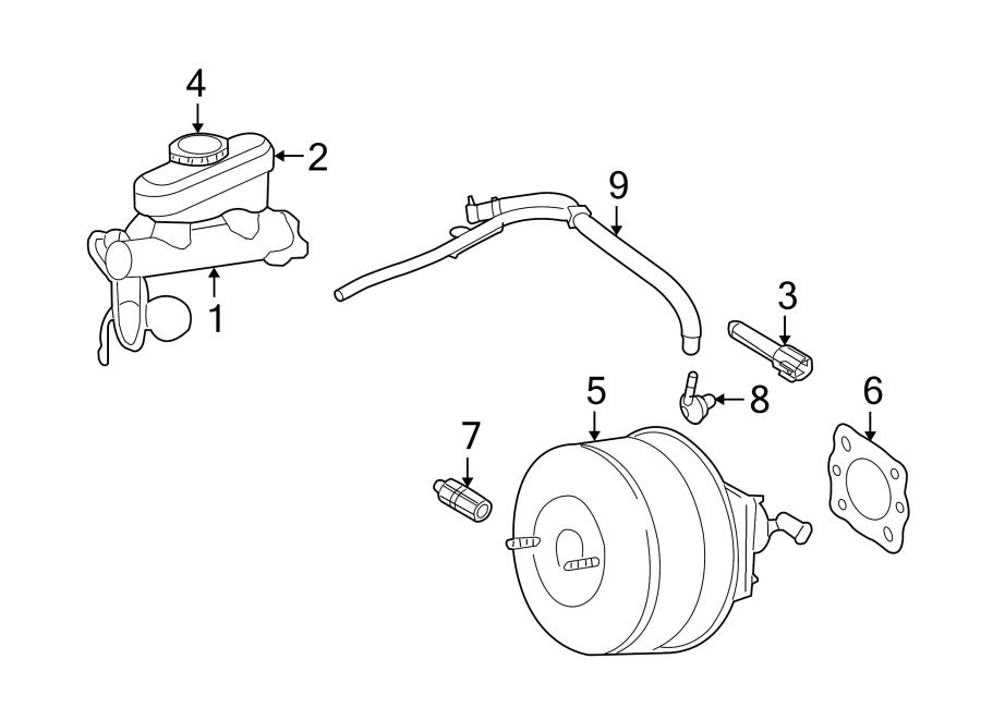 Ford F-250 Super Duty Power Brake Booster Check Valve