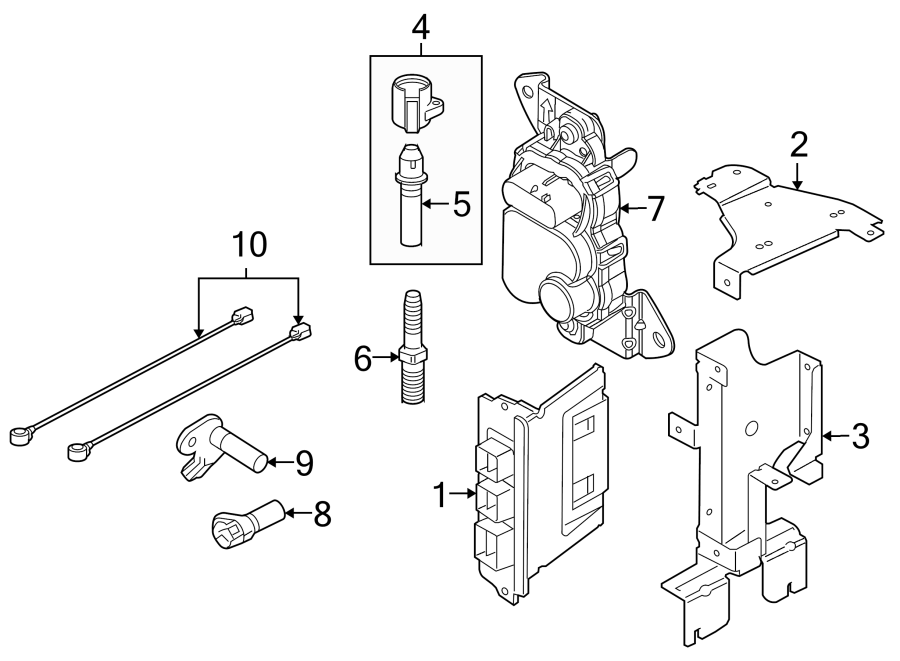 2010 Ford Mustang Ignition Knock (Detonation) Sensor