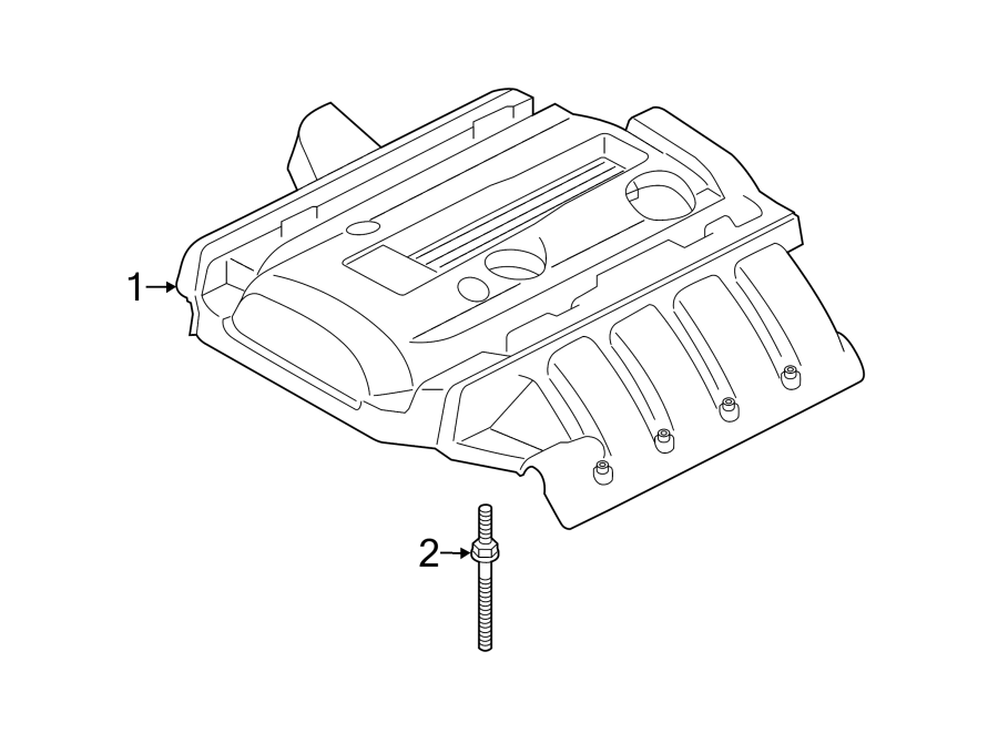 2015 Ford Mustang Engine Cover. LITER, APPEARANCE