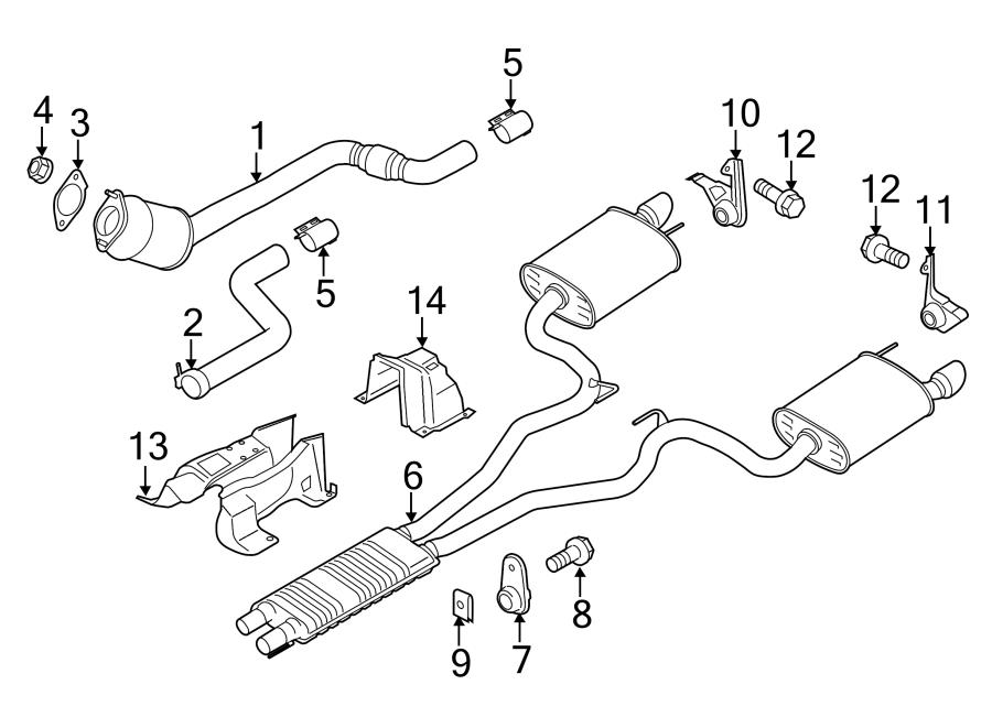 2016 Ford Mustang Front pipe. 5.0 LITER. EXHAUST, SYSTEM