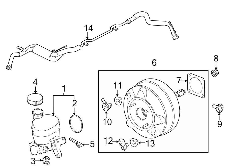 2015 Ford Mustang Brake Master Cylinder. LITER, Trans