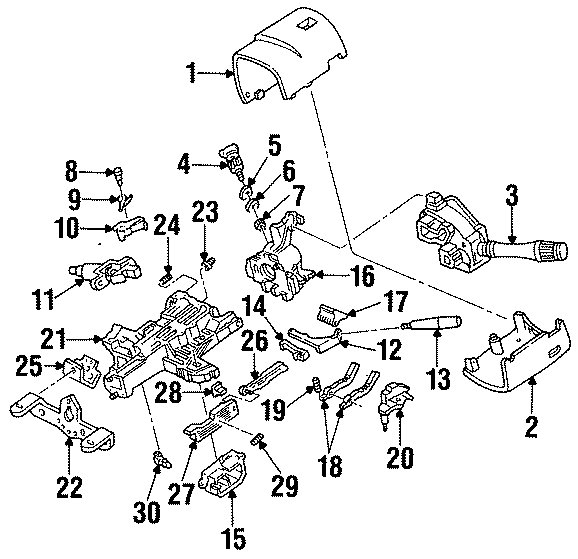 Ford Mustang Shift Interlock Solenoid. STEERING, Brake