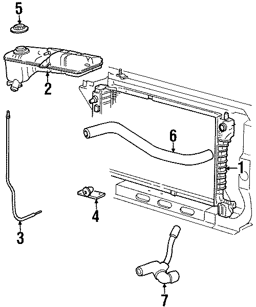 Ford Mustang Engine Coolant Reservoir Bracket. Recovery