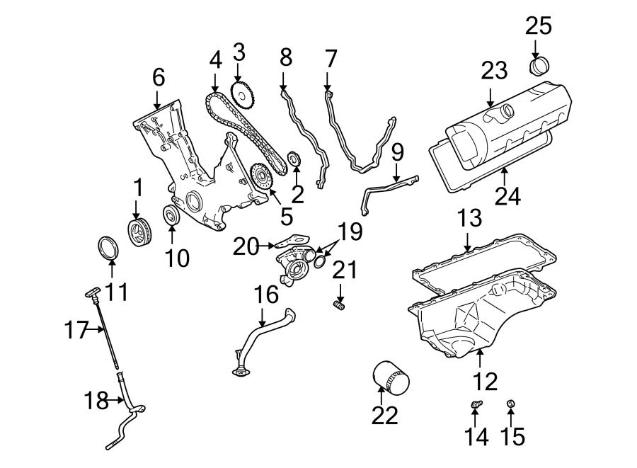 2000 Ford Mustang Engine Oil Dipstick Tube. 4.6 LITER
