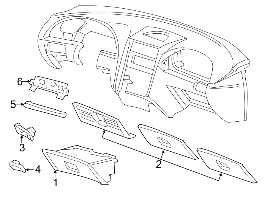 Ford Mustang Map compartment. PANEL, INSTRUMENT, GLOVE