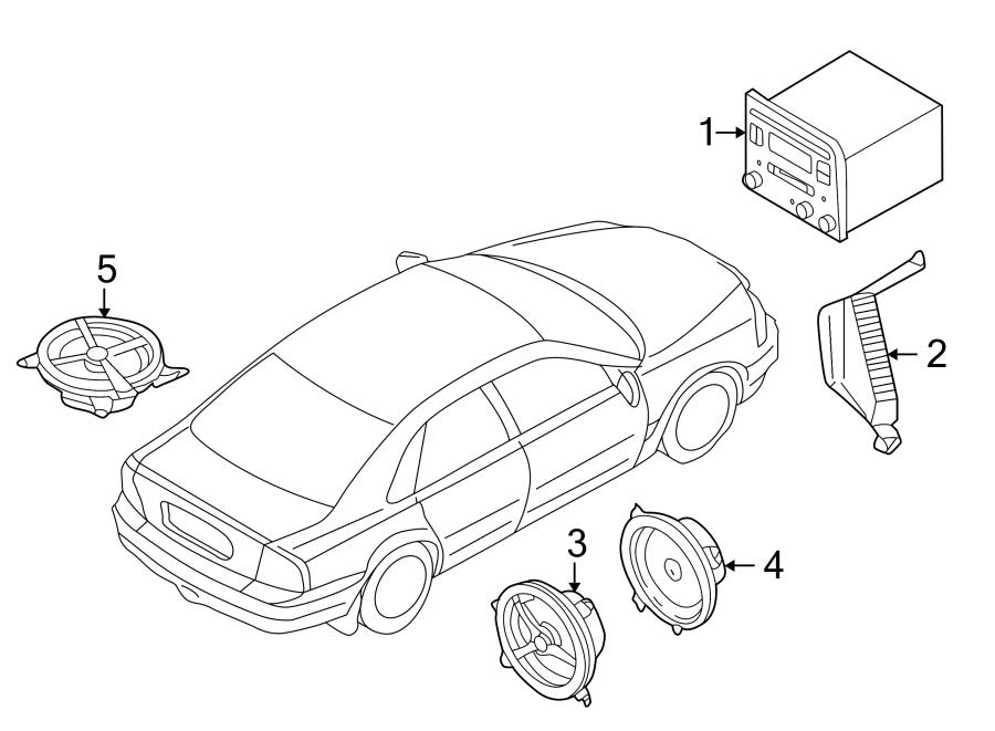 Ford Explorer Sport Trac Speaker. Front. Front, base. W