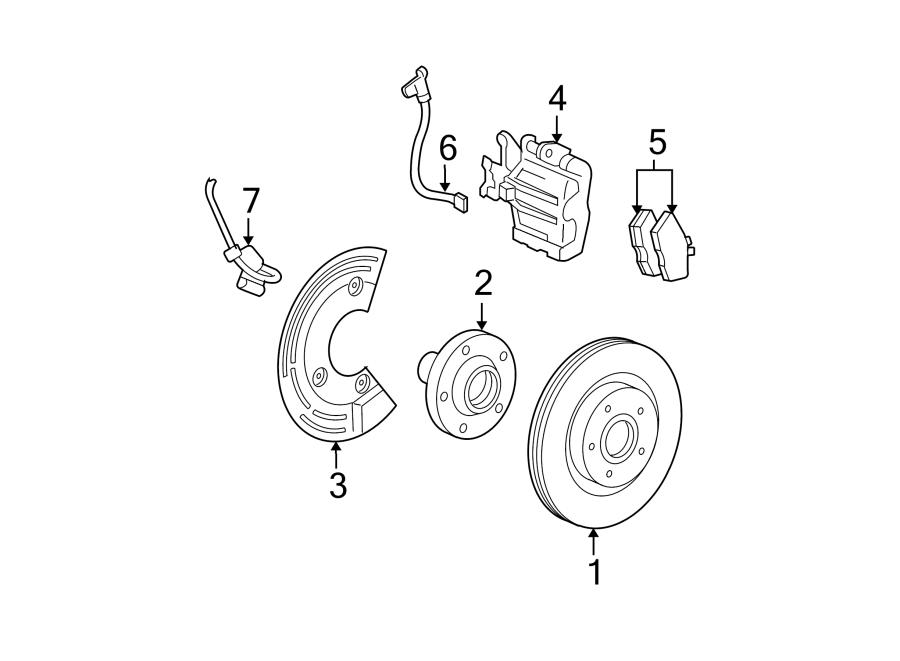 Ford Five Hundred Abs wheel speed sensor (rear