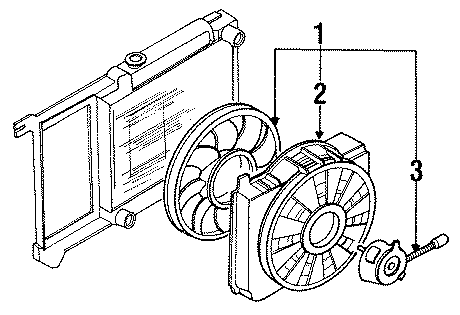 Ford Thunderbird Fan motor. 3.8 liter, w/supercharger