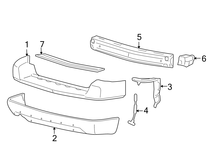 Ford Freestyle Bumper Step Pad (Lower). Rear