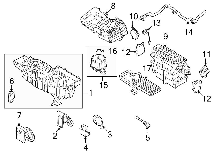 Ford Taurus X Motor. Actuator. Temp, ZONE, Dual