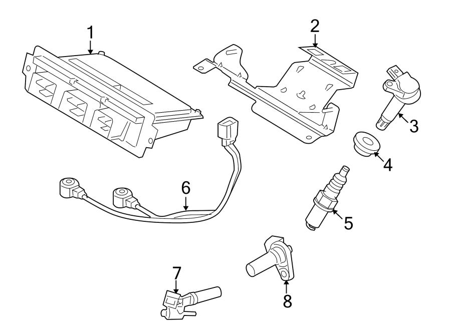 Ford Taurus X Engine Control Module. Code, California