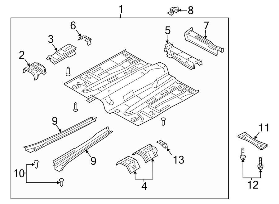 2017 Ford Escape SE 1.5L EcoBoost FWD Crossmember bolt