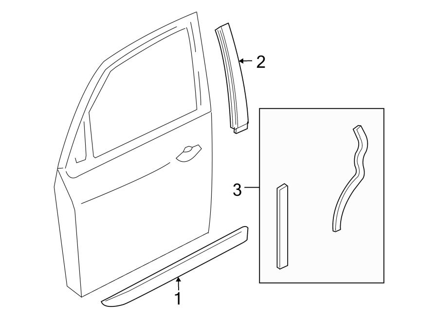 2005 Ford Focus Door Molding (Lower). 5 DOOR HATCHBACK