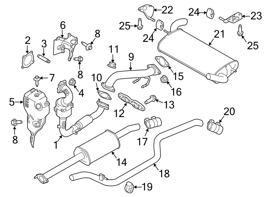 Ford Focus Catalytic Converter. EXHAUST, LITER, Trans