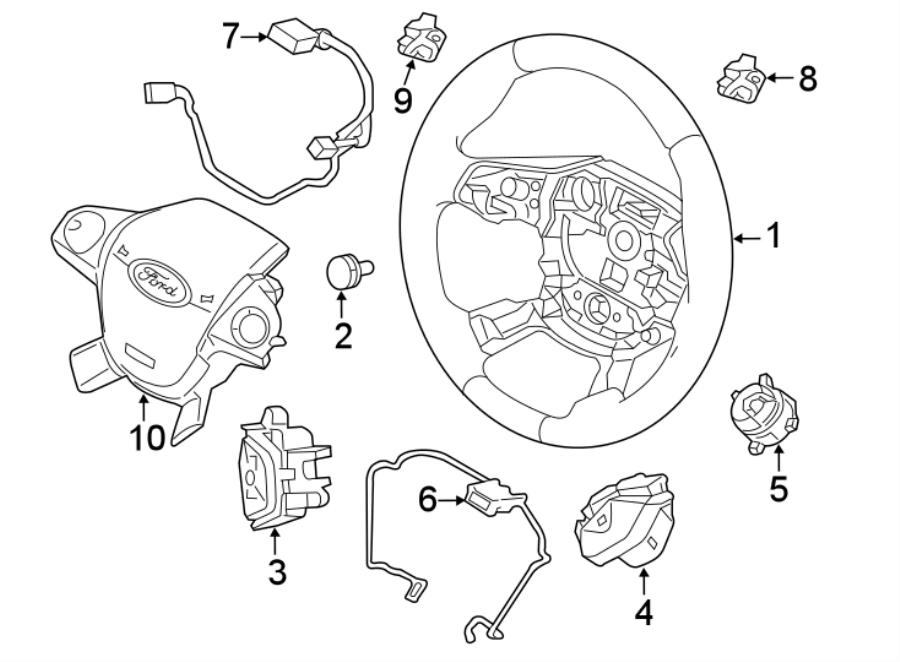 Ford Focus Steering Wheel Radio Controls. 2015-18, W/O RS