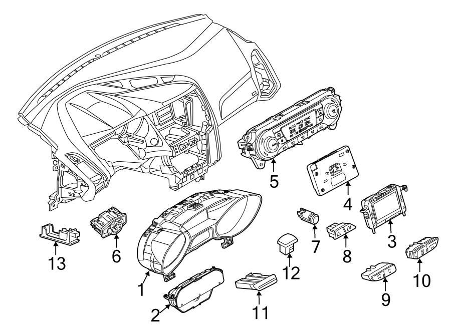 2013 Ford Focus S Sedan 2.0L PZEV M/T Air bag switch