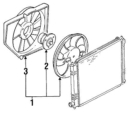 Ford Escort Fan Motor. 1.8 LITER, w/o AC. 1.8 LITER, w/o