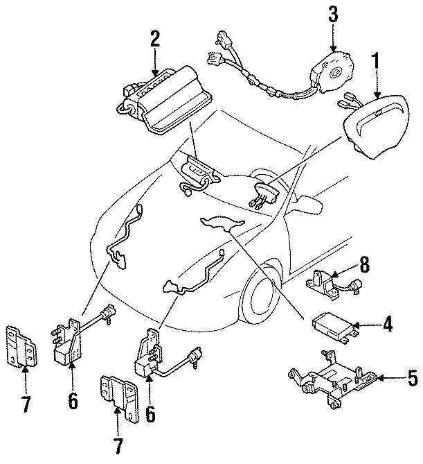 1996 Ford Escort Sport Sedan 1.9L A/T Air Bag Control