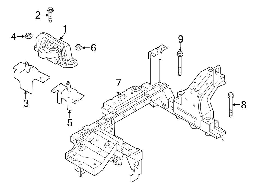 Ford Focus Engine Mount Bracket (Front, Rear). MOTOR